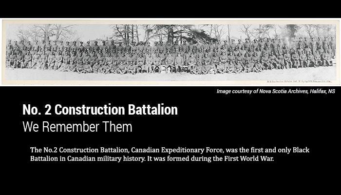 See the Vintage CBC and Maroon Films vignette of Canada's only Black Battalion, the No. 2 Construction Battalion: