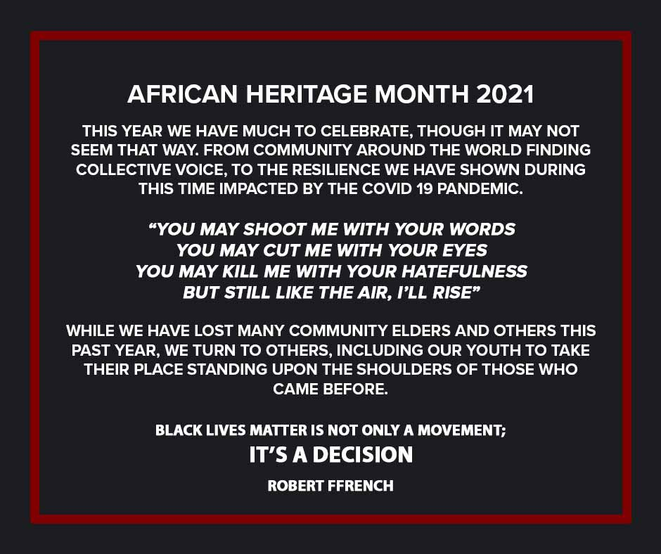 African Heritage Month 2021